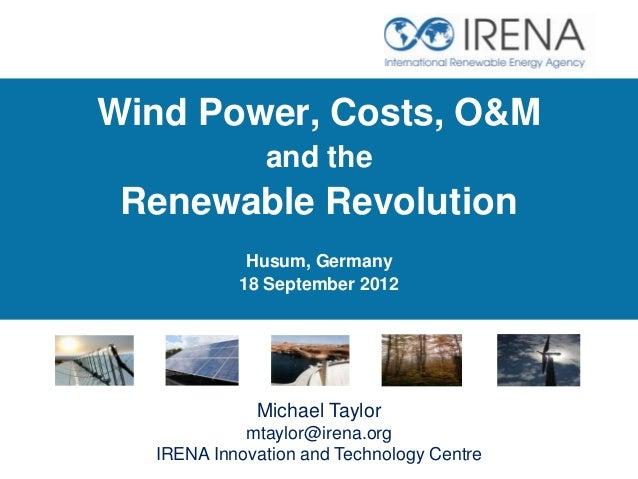Husum IRENA/WWEA Wind  Operations and Maintenance side event