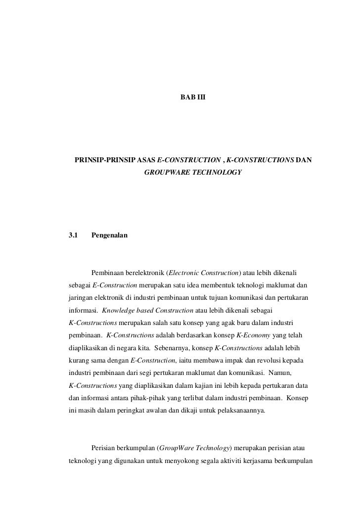 Prinsip-prinsip Asas E-Construction, K-Constructions dan Groupware Technology