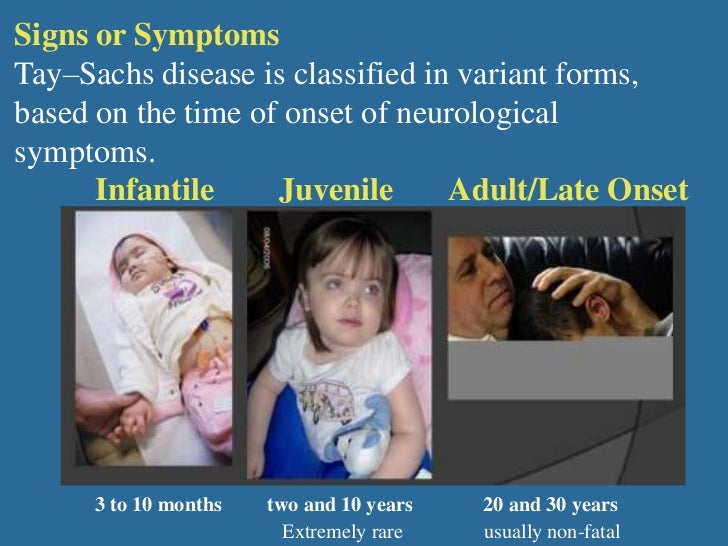 a description of the tay sachs disease as a fatal genetic disorder of the nervous system Tay-sachs disease is a fatal recessive genetic disorder that affects the central nervous system of fatal disease the suffering of tay-sachs.
