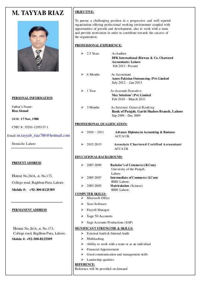 trainee accountant cv - Etame.mibawa.co
