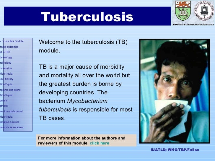 Introduction       1                        Tuberculosis                                          Partners in Global Healt...