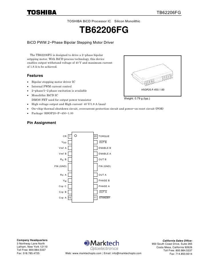 Datasheet of TB62206FG