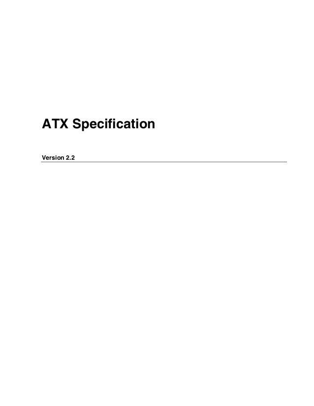ATX Specification Version 2.2