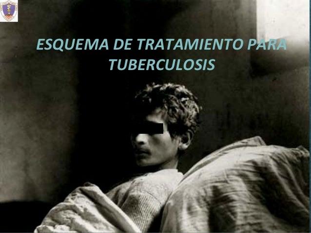 ESQUEMA DE TRATAMIENTO PARA       TUBERCULOSIS