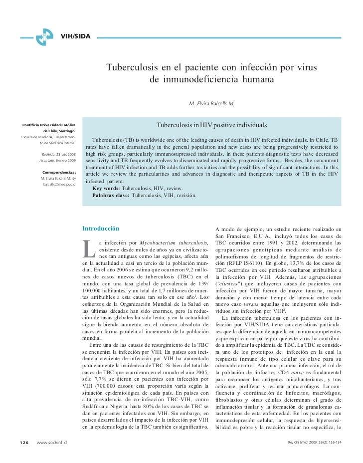 VIH/SIDA                                                Tuberculosis en el paciente con infección por virus               ...