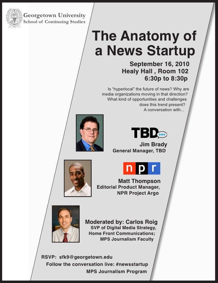 Anatomy of a News Startup