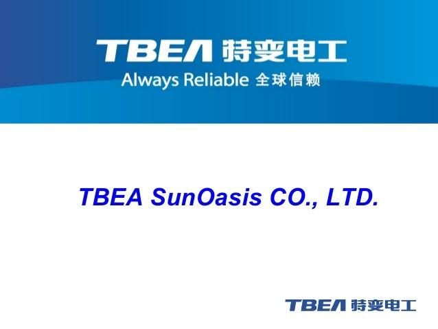 TBEA SunOasis CO., LTD.