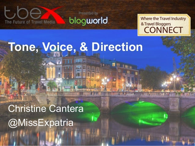 Tone, Voice and Direction- Christine Cantera