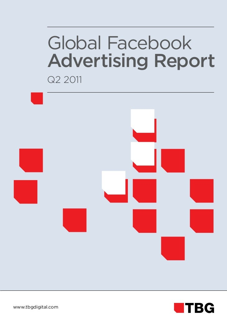 Evolutions of ad spend on Facebook Q2 2011
