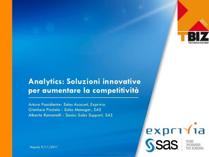 TBIZ 2011 Analytics: Sas-exprivia