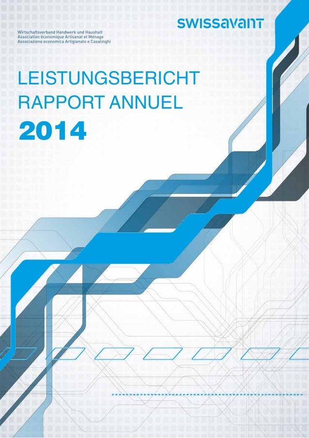 Leistungsbericht Rapport Annuel 2014