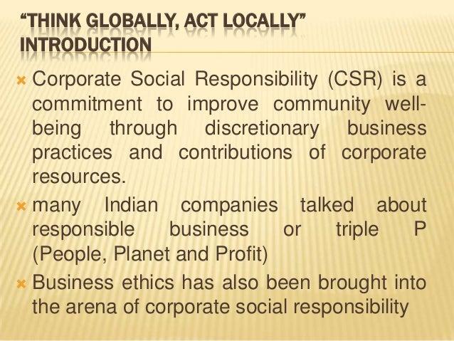 Csr Research Proposal