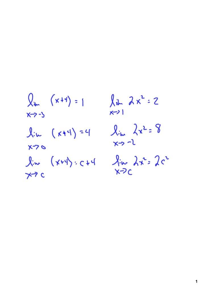 preCalculus Unit 02-01 Limits