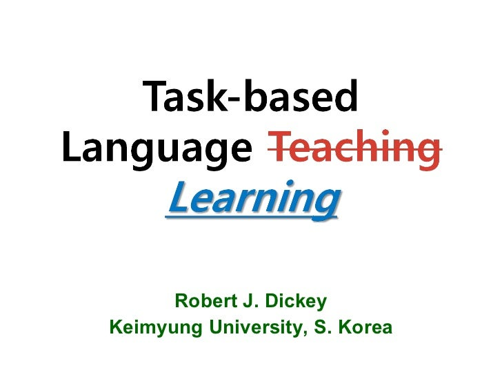 Robert J. Dickey Keimyung University, S. Korea