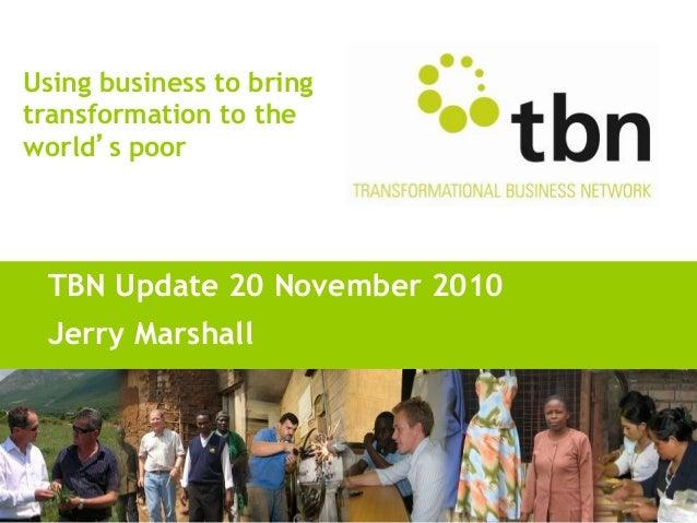 TBN MDC '10 - Jerry, Harrison - TBN Update, website & social media