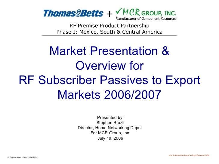 Market Size Presentation July 2006