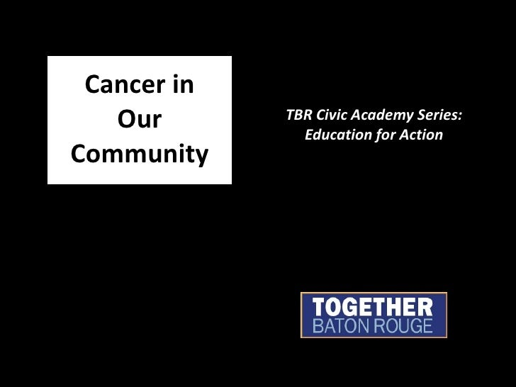 Cancer in Our Community