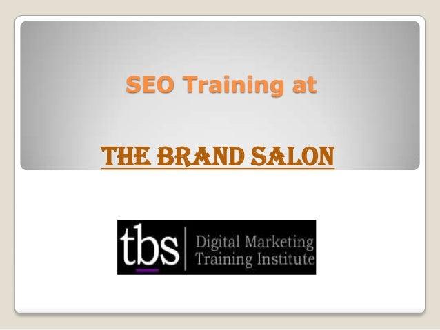 SEO Training at The Brand Salon