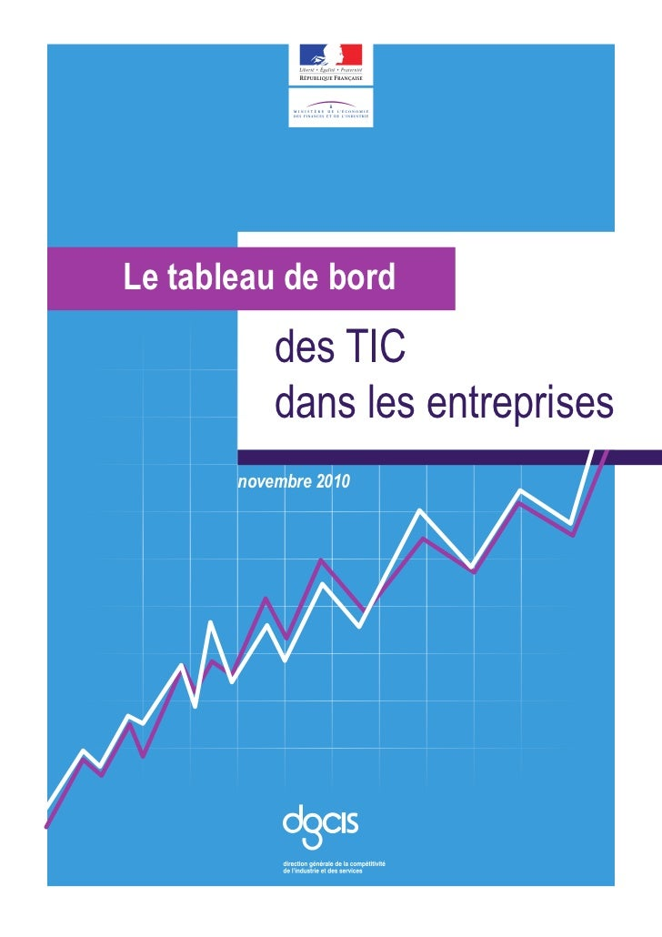 Le tableau de bord des TIC dans les entreprises - Novembre 2010
