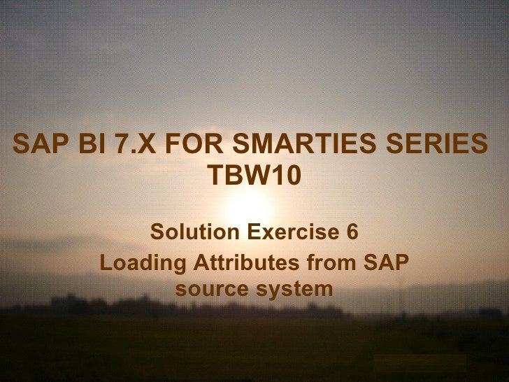 Loading Attributes from SAP source system
