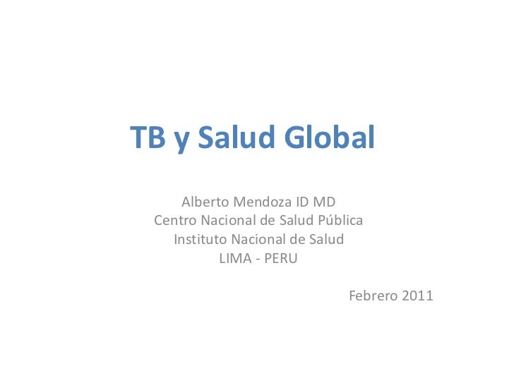 Tuberculosis y Salud Global