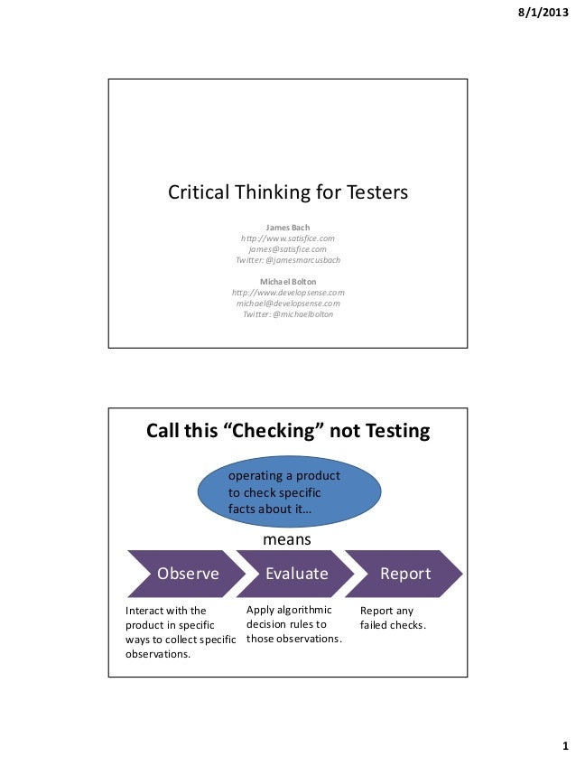 papers on critical thinking