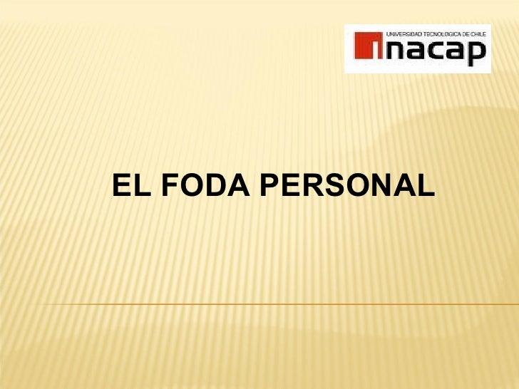 EL FODA PERSONAL