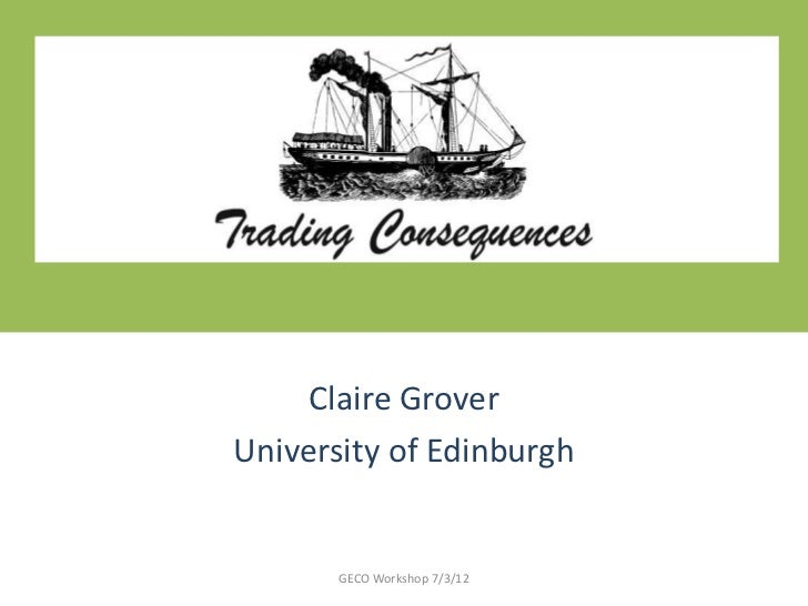Trading Consequences - Claire Grover