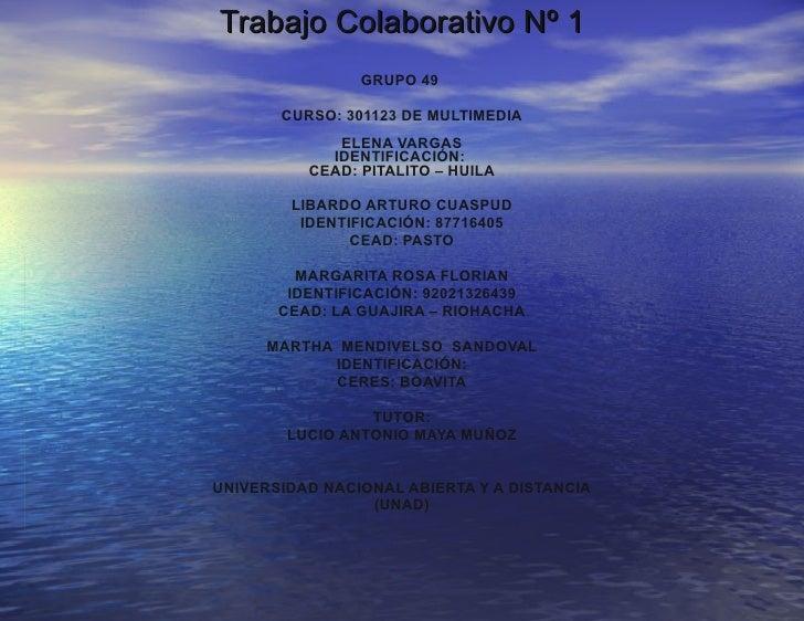 Trabajo Colaborativo No.1 Multimedia