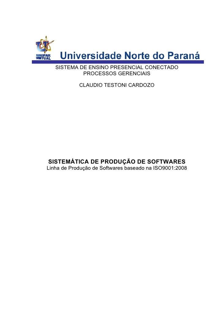 Trabalho Fábrica de Softwares baseado em ISO 9001:2008