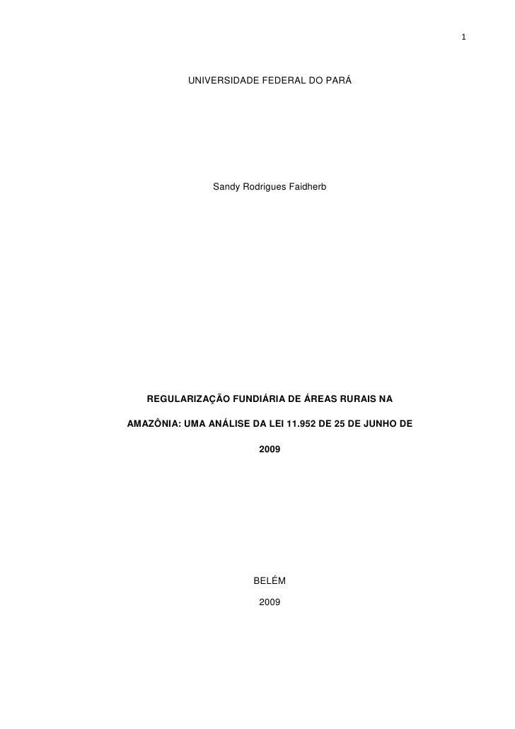 Tcc  regularização fundiária- lei 11[1].952 sandy