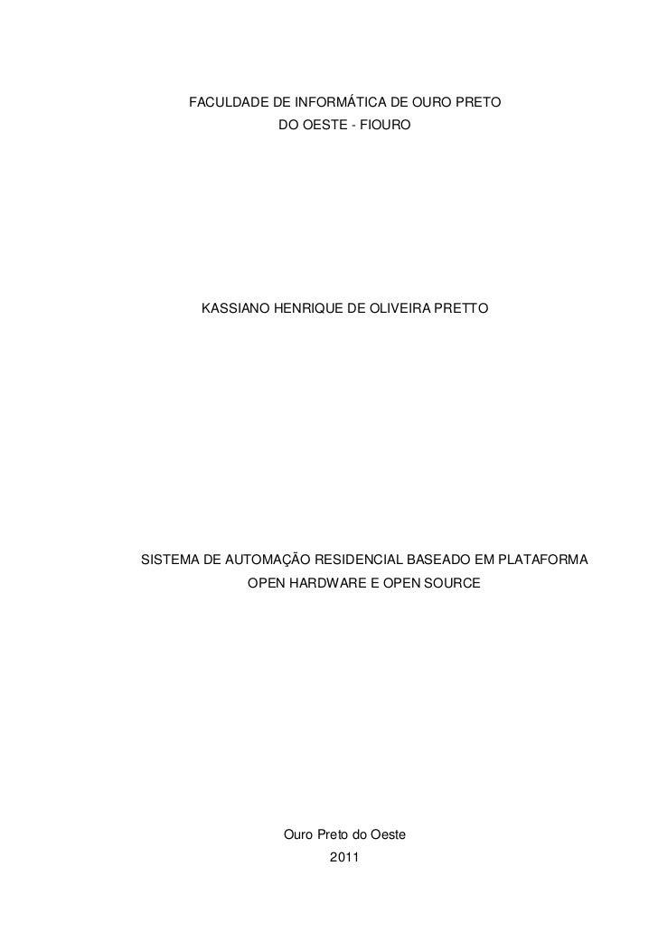 Tcc   sistema de automação residencial baseado em plataforma open hardware e open source