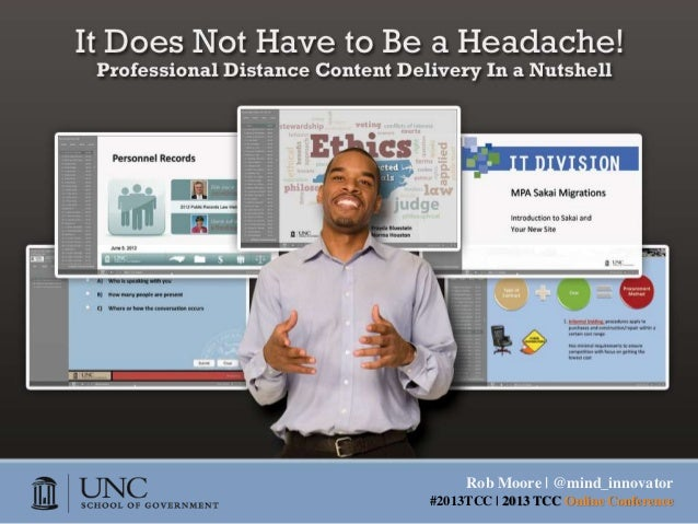 It Does Not Have to Be a Headache! 2013 TCC Presentation