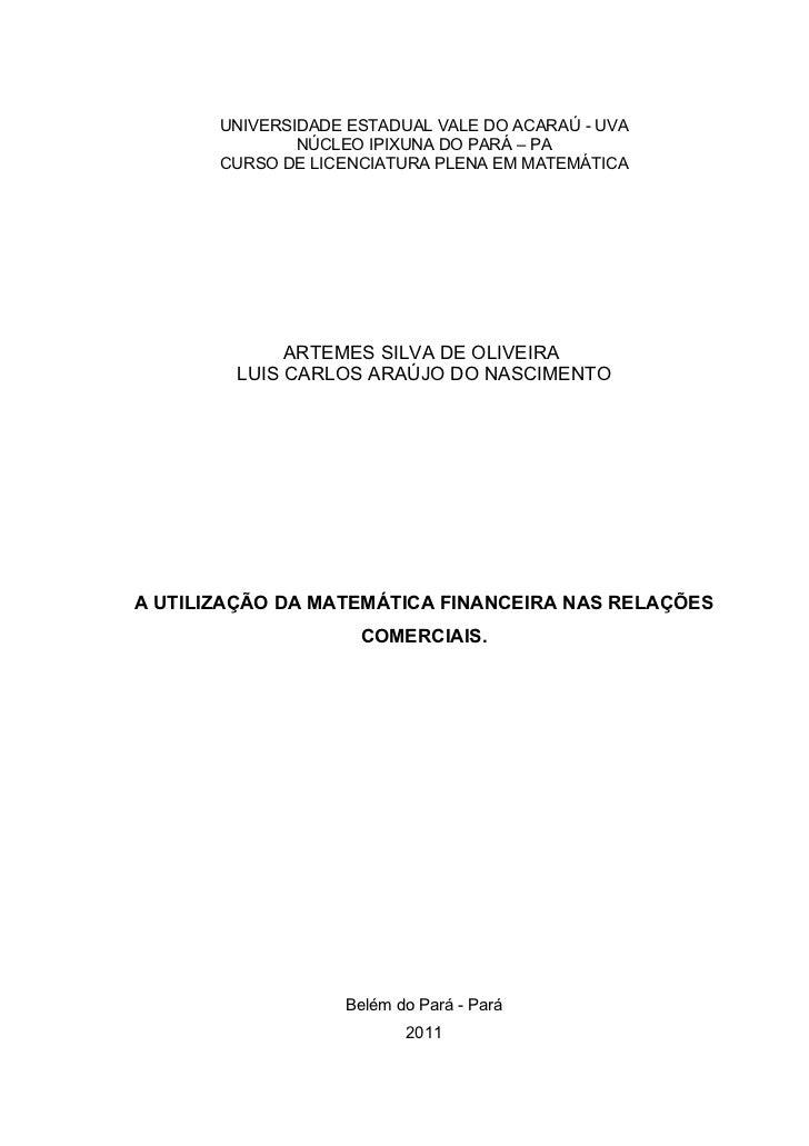 TCC DE MATEMÁTICA