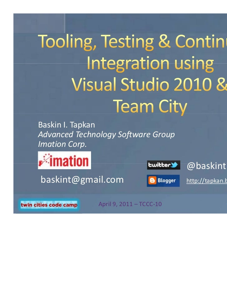 1Baskin I. TapkanAdvanced Technology Software GroupImation Corp.                                         @baskintbaskint@g...