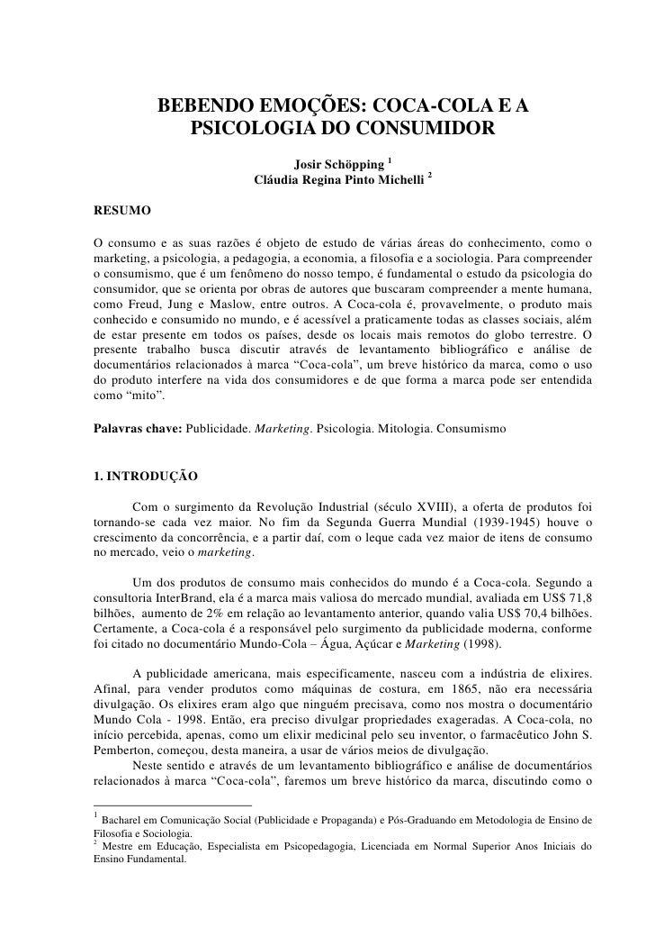BEBENDO EMOÇÕES: COCA-COLA E A PSICOLOGIA DO CONSUMIDOR