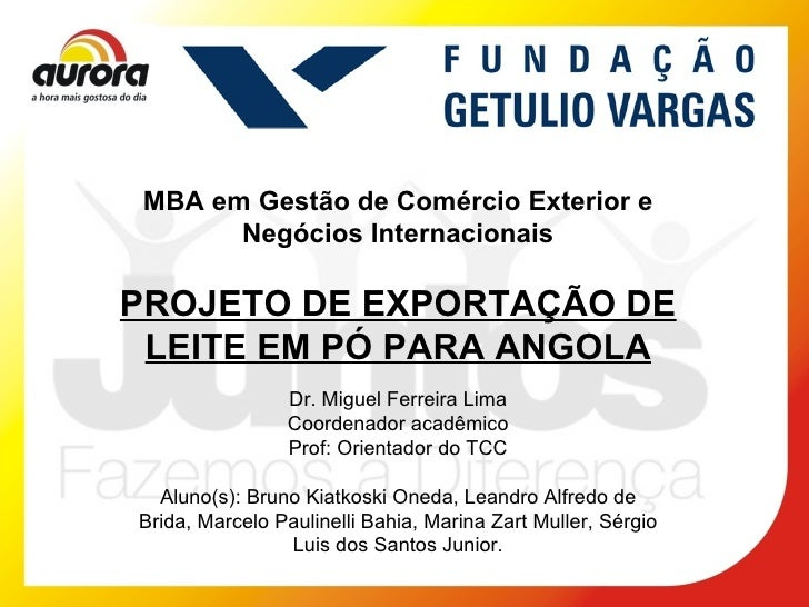 Exportação de Leite em Pó Aurolat para Angola