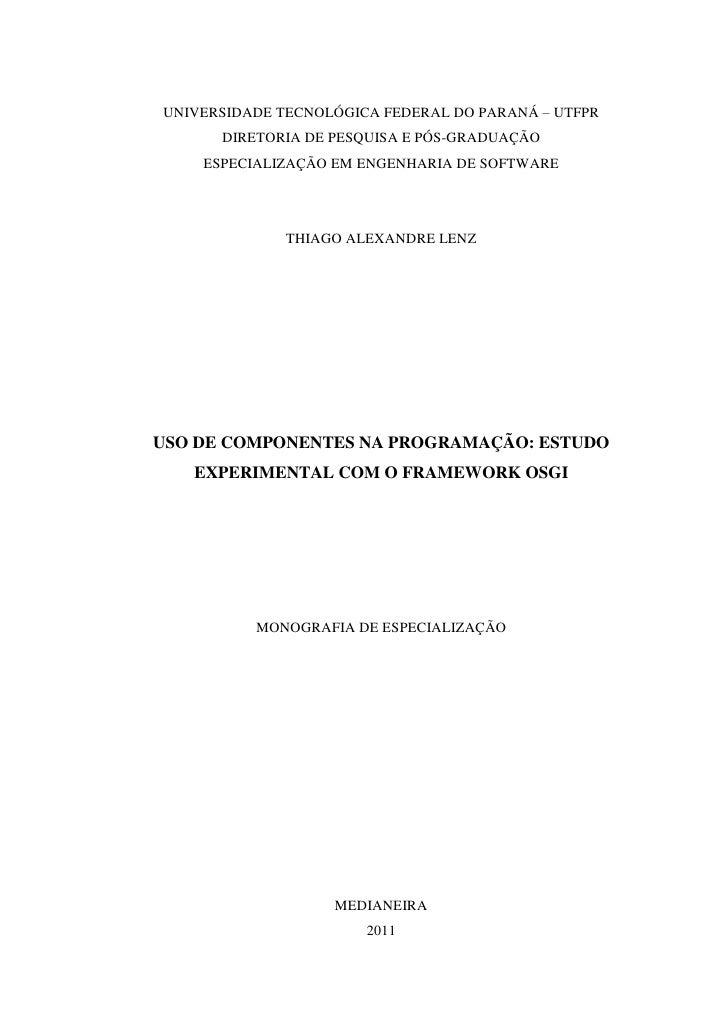 TCC - Pós Engenharia de Software