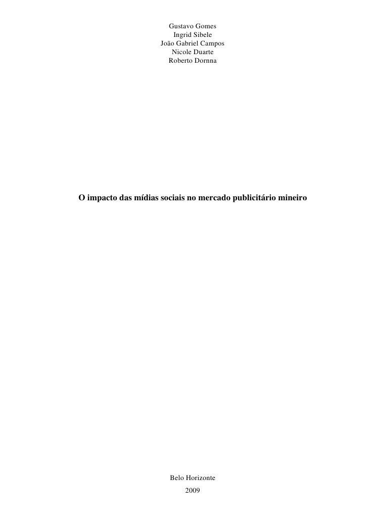 Tcc Final O Impacto Da MíDias Sociais No Mercado PublicitáRio Mineiro