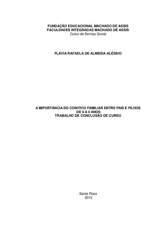 A IMPORTÂNCIA DO CONVÍVIO FAMILIAR ENTRE PAIS E FILHOS DE 0 A 4 ANOS