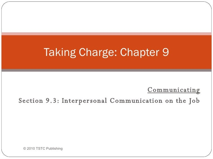 Taking Charge (2nd ed.), Chapter 9.3