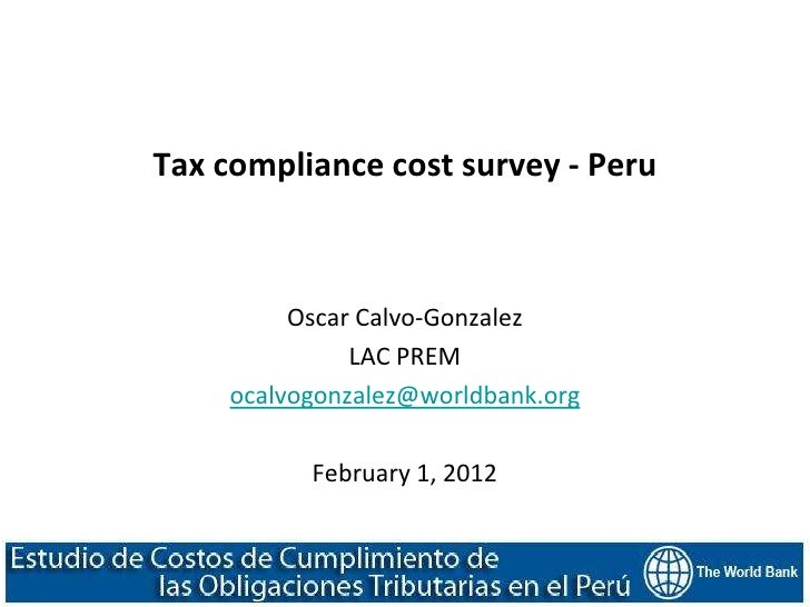 Peru Tax Compliance Cost Surveys