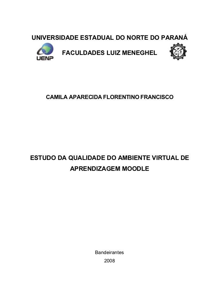 Estudo da Qualidade do Ambiente Virtual de Aprendizagem Moodle