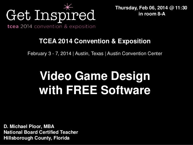 Tcea 2014   video game design software