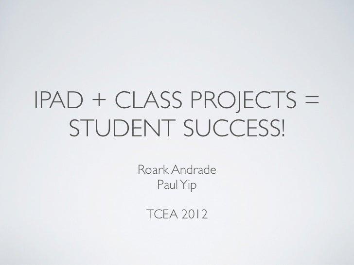 TCEA 2012 iPad Projects