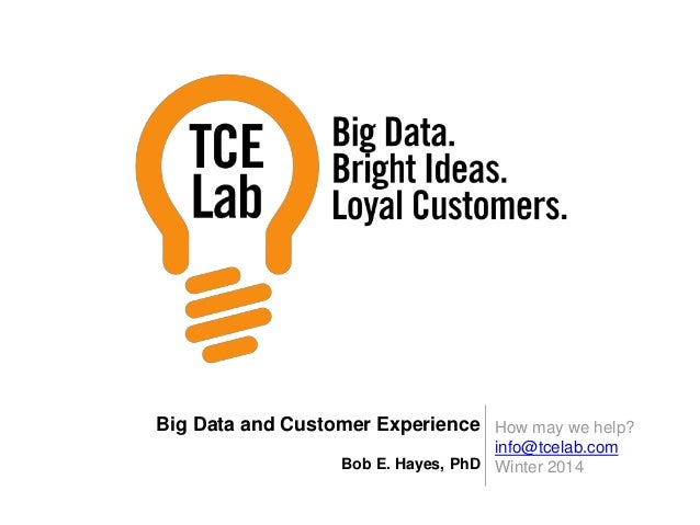 Big Data and Customer Experience