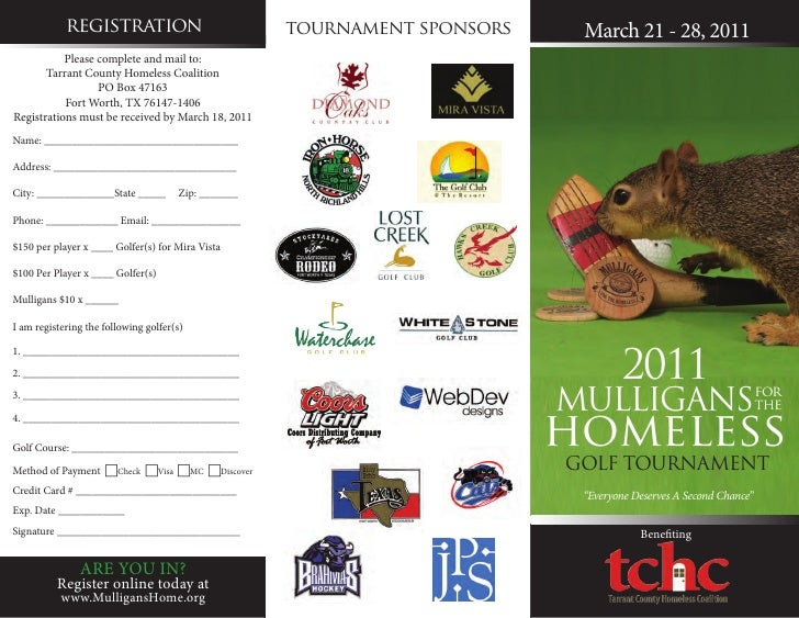 registration                             tournament sponsors    March 21 - 28, 2011           Please complete and mail to:...