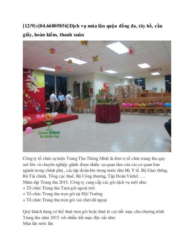 [12/9]+[04.66805856]Dịch vụ múa lân quận đống đa, tây hồ, cầu giấy, hoàn kiếm, thanh xuân Công ty tổ chức sự kiện Trung Th...
