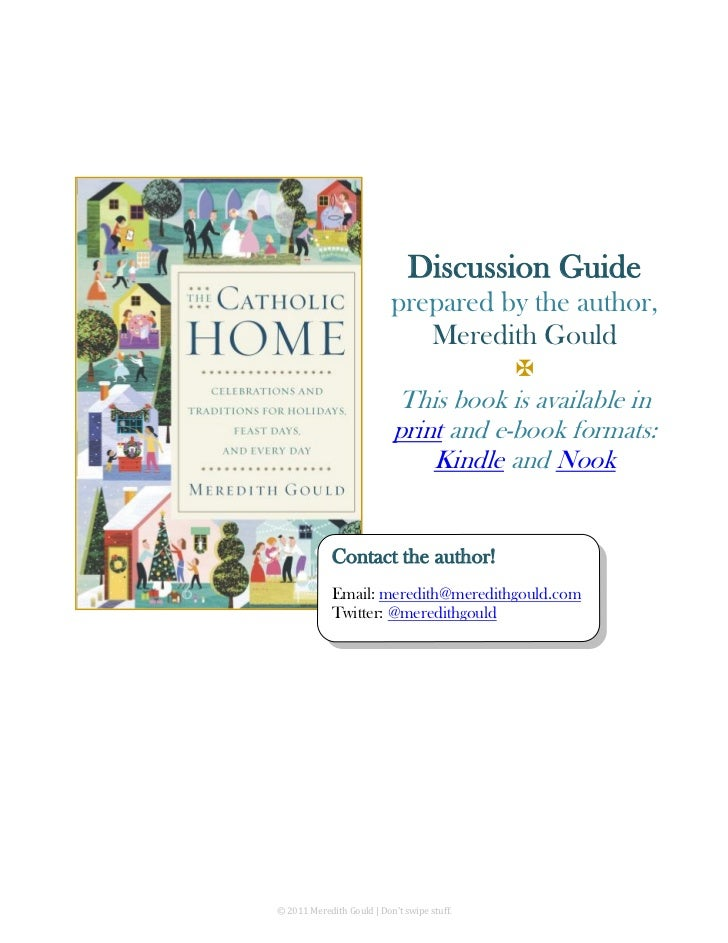 Discussion Guide                           prepared by the author,                              Meredith Gould            ...