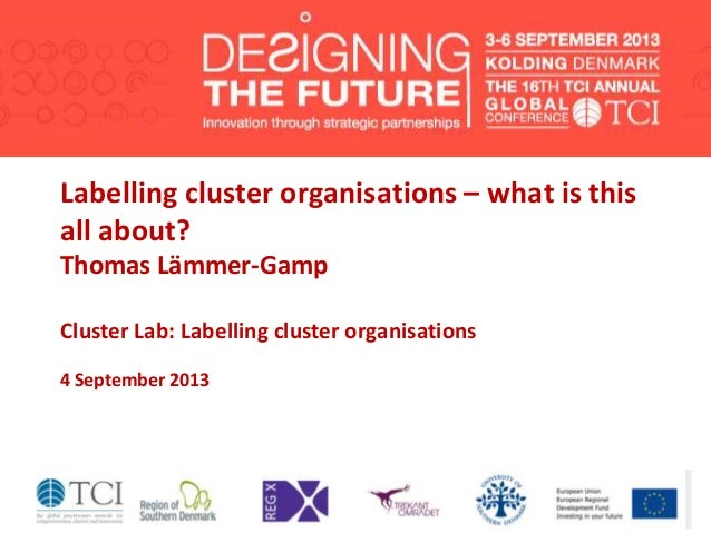 Labelling cluster organisations – what is this all about? Thomas Lämmer-Gamp Cluster Lab: Labelling cluster organisations ...